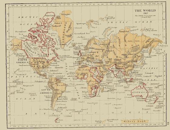 British Studies - Victorian world map