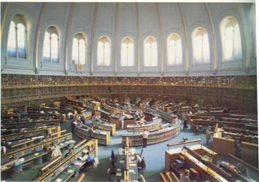 The Round Reading Room of the British Library, not that many years ago